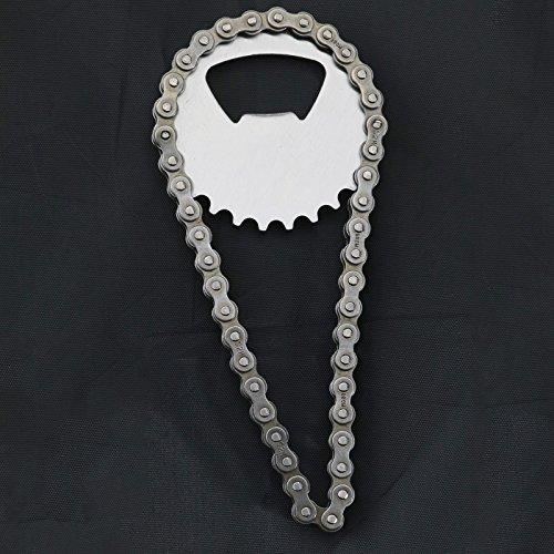 Flaschenöffner in Form einer Fahrradkette