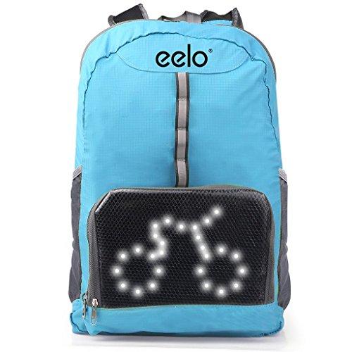 Ein Fahrrad Rucksack mit LED Symbolen