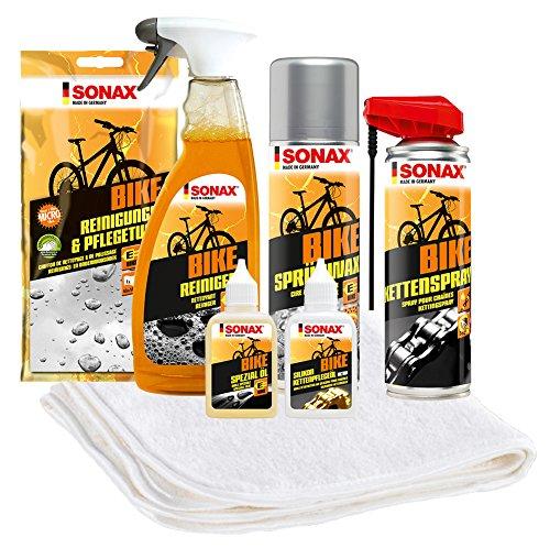 SONAX 7-teiliges Fahrrad Pflege- und Reinigungspaket als Geschenk für Papas und Radler