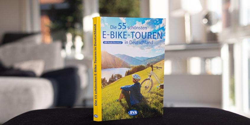 Buchcover von Die 55 schönsten E-Bike Touren in Deutschland