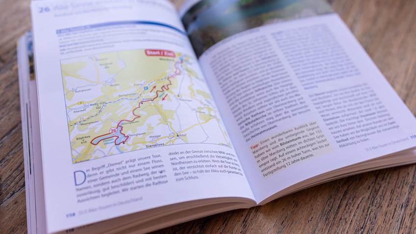 Streckenführung einer Tour des Buches Die 55 schönsten E-Bike Touren in Deutschland