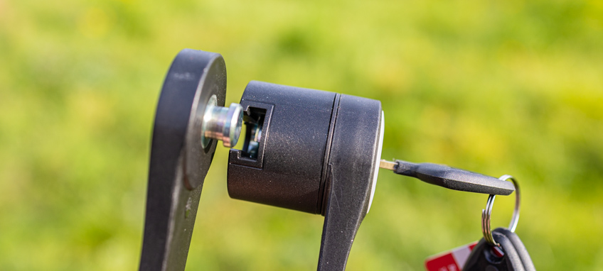 Der Schließzylinder im Aaron Foldylock Compact Test