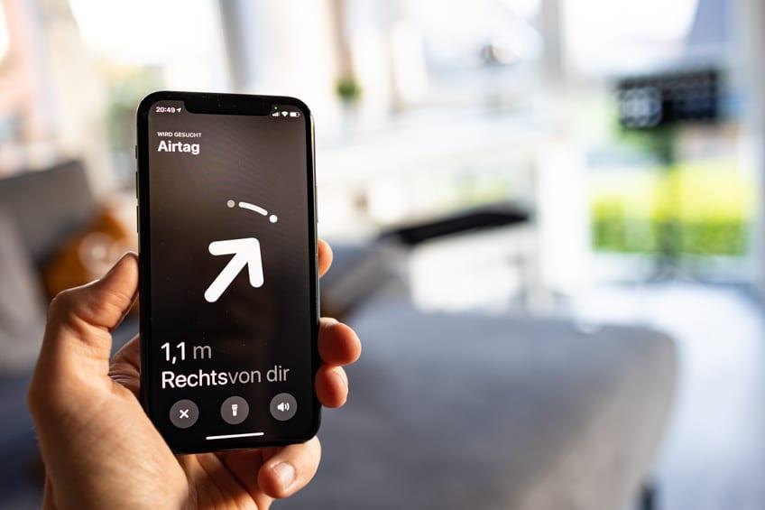 Apple AirTag Test –Navigation in Bluethooth Reichweite