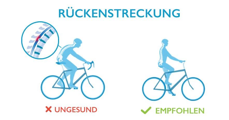 Bandscheibenvorfall – die richtige Position beim Fahrradfahren ist wichtig