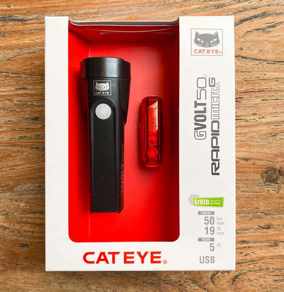 Cateye GVolt 50 – Verpackung