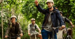 Corona Fahrradfahren in der Gruppe