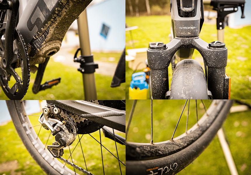 Vor dem E-Bike Putzen schauen wir uns erstmal an wie dreckig das Rad ist