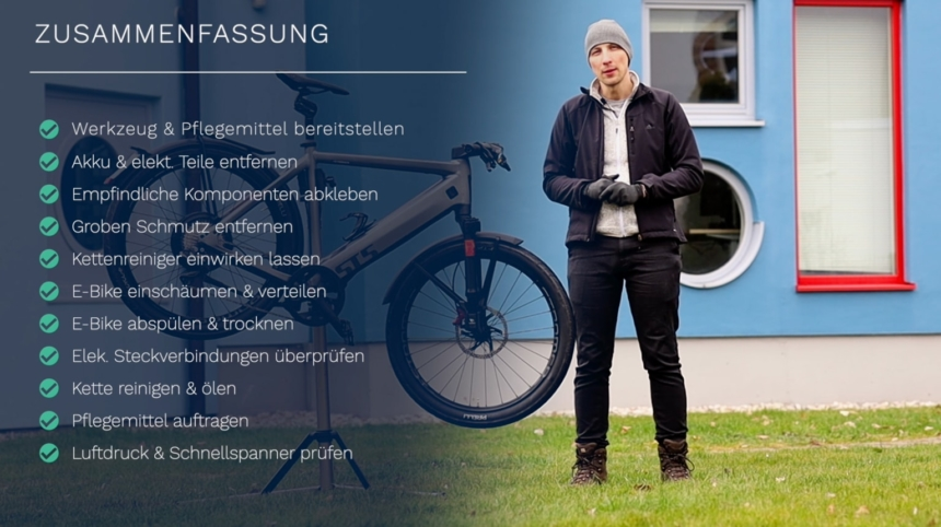 E-Bike reinigen als Checkliste