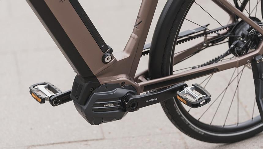 E-Bike Motor mit wartungsarmen Gates Riemen