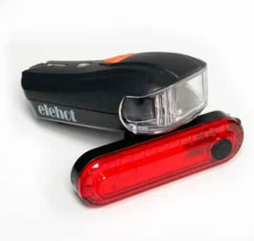 Elehot / Montop Lampenset Lichtkegel im Fahrradbeleuchtung Test