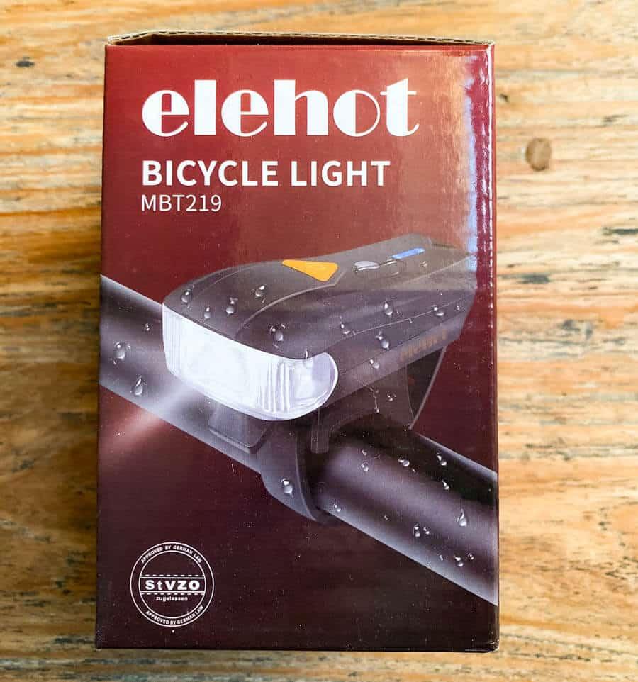 Verpackung der Elehot Fahrradlampe