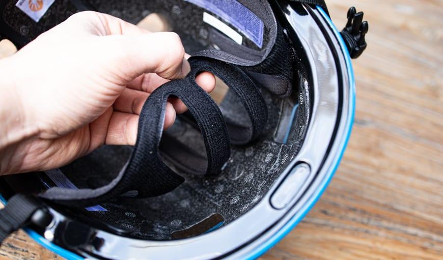 Fahrradhelm Test – herausnehmbare Pads sind praktisch und hygienisch