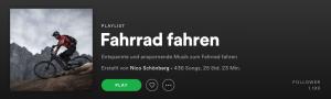 Eine Playlist zum Fahrradfahren auf Spotify