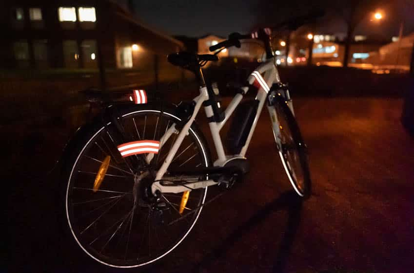 Fahrrad Reflektorband bei Nacht