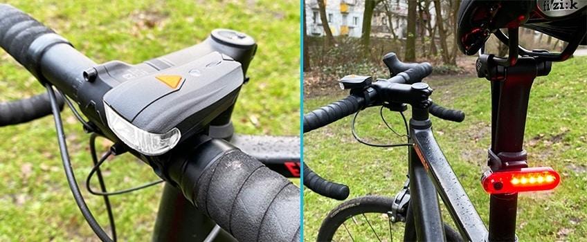 Das Fahrradlampen Set von Elehot im Test