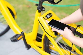 Öffnen von Fahrradschlössern mit der Smartphone App