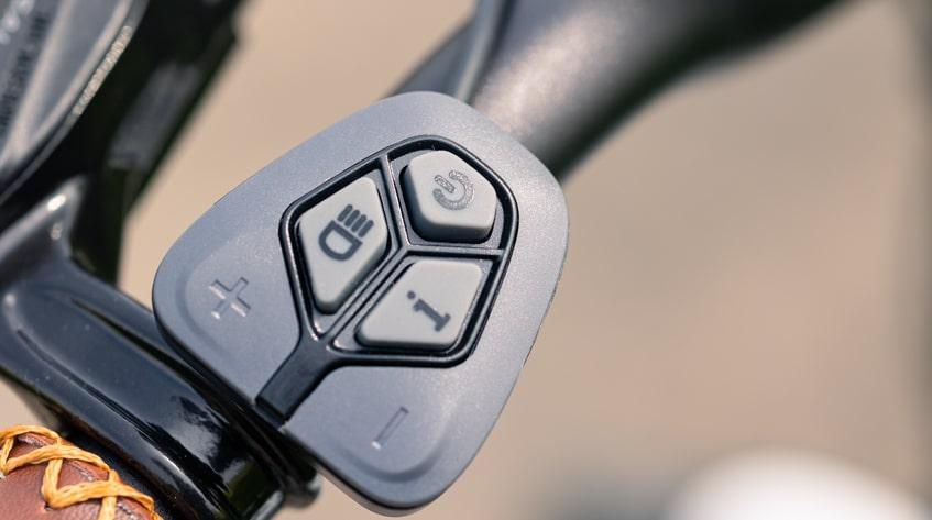 Fahrradcomputer Steuerung am Himiway E-Bike