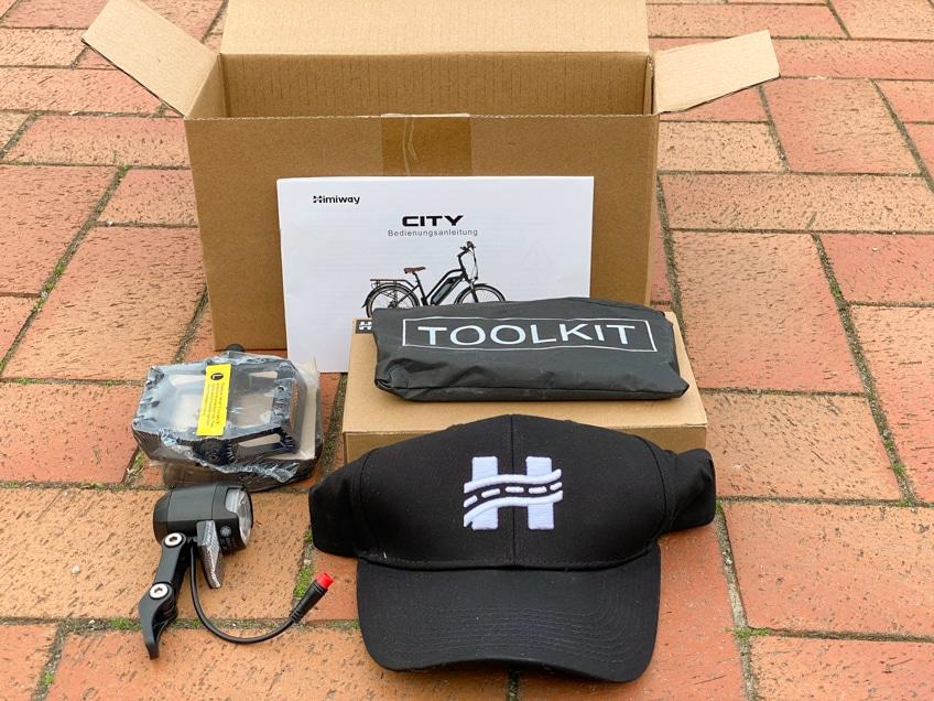 Himiway City Pedelec Test – Werkzeug und Verpackung