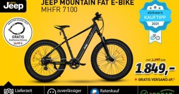 Jeep Deal mit dem MHFR 7100 Mountain Fatbike