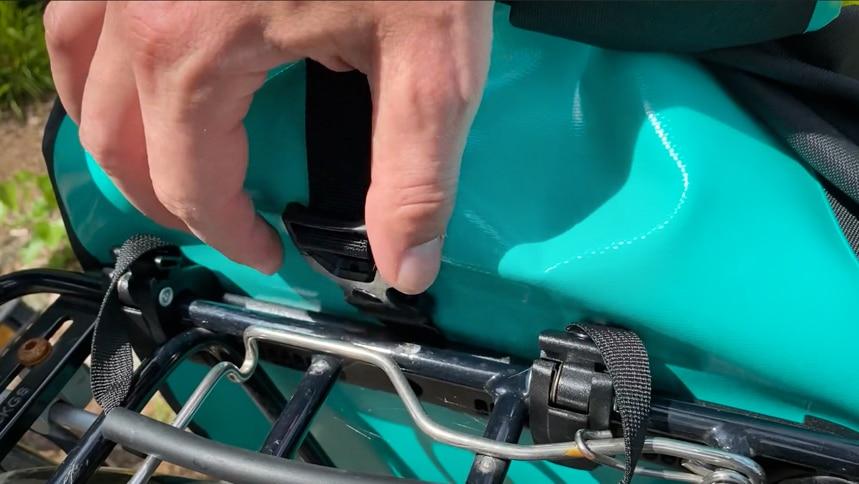 Der Verschluss der Back-Roller Free war am Rad etwas mühsam zu öffnen