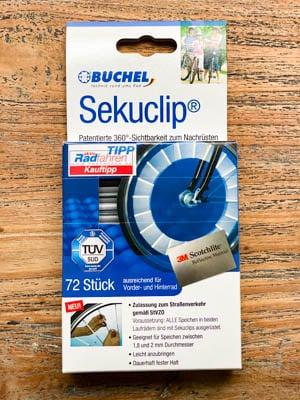 Speichenreflektoren Test - Büchel Secu Clips Verpackung