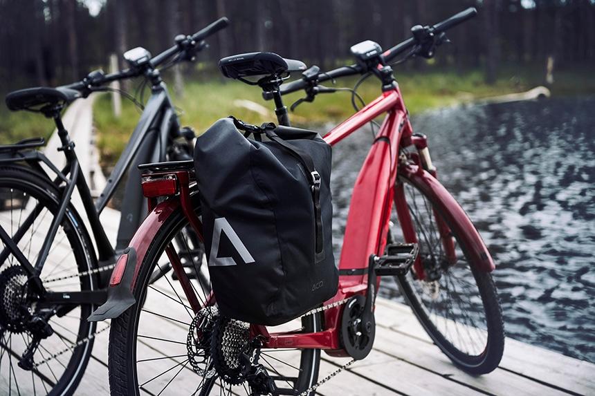Trekking E-Bike Test – Gepäck Taschen