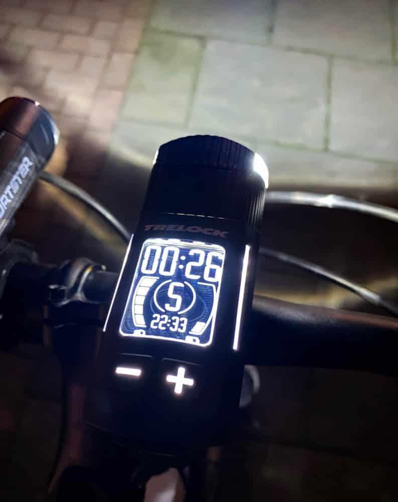 Das Handling der Fahrradlampe ist super