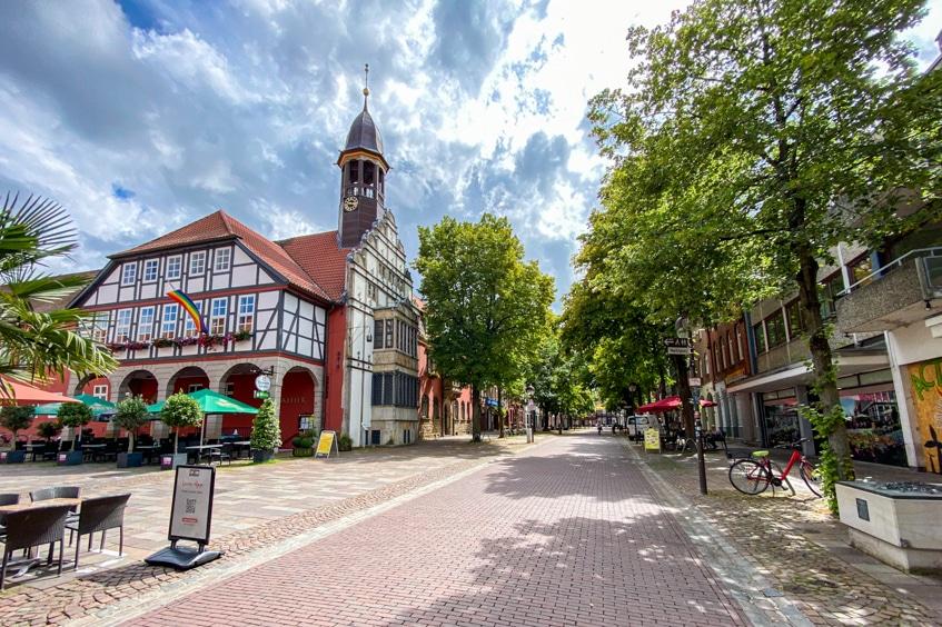 Die Altstadt von Verden sieht nicht nur unheimlich niedlich aus, sondern auch der Wochenmarkt soll europas schönster sein