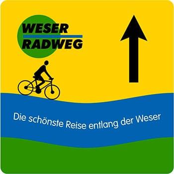 Ausschilderung des Weserradwegs