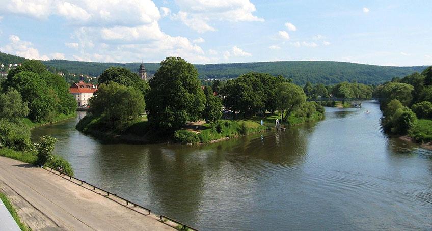 Weserquelle als Vereinigung von Werra und Fulda